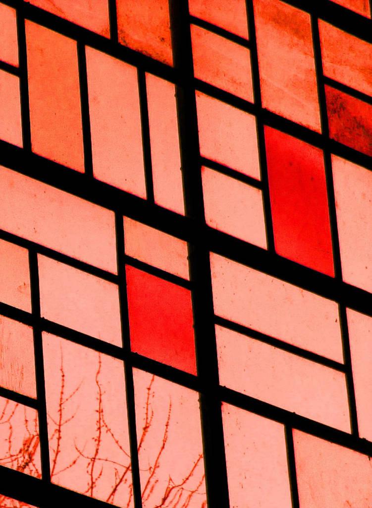 Glas in lood rode gloed