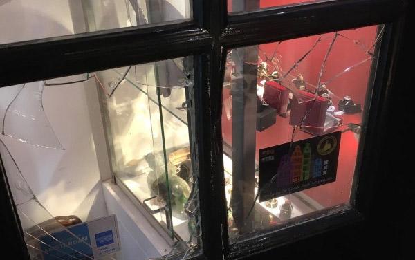 inbraak in winkel zonder veiligheidsglas